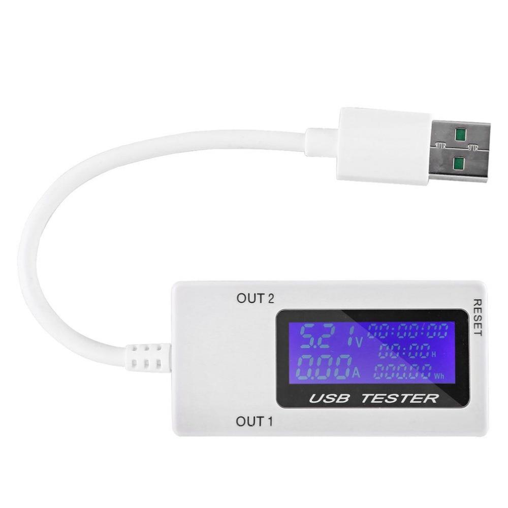 تستر شارژر USB جریان برق مینی دوگانه USB - ابزار اندازه گیری