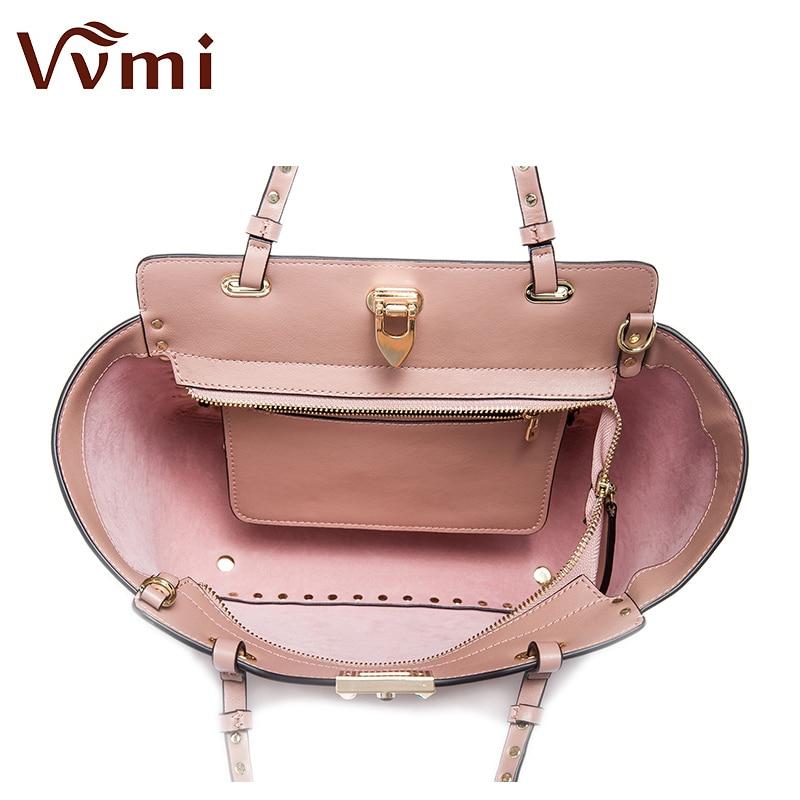 Vvmi women bag single shoulder colorful rivet handbags female famous brands luxury designers handbags  new fashion star