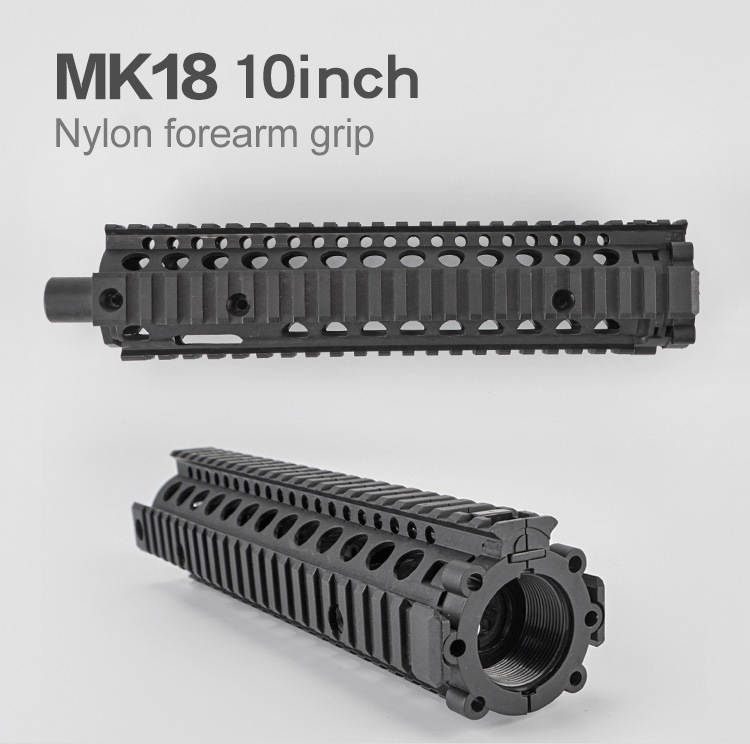 10 inch Airsoft  MK 18 Nylon Forearm Grip For Most Toy Rifles Screw Cable M4 Refitting Parts Outdoor Hunting Accessory-in Hunting Gun Accessories from Sports & Entertainment