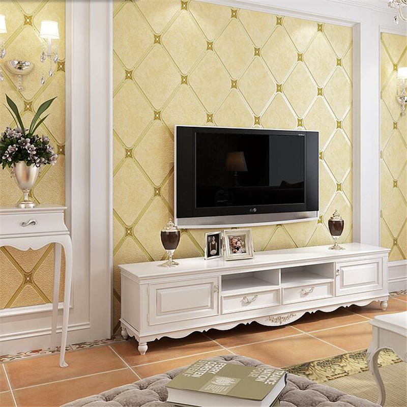Beibehang European TV background wall paper luxury simple European high-end atmosphere living room bedroom simple mode wallpaper цена