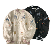 Autumn Women's Jackets Large Size Embroidery Windbreaker Coats Women 2019 Bomber Jacket Long Sleeve Basic Coat Casual Outerwear