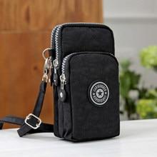 0b01977b1343d Universal Brieftasche Tasche für iphone 6 7 8 Plus Klettern Tragbare  telefon Tasche Tasche für Samsung handy schultertasche hols.