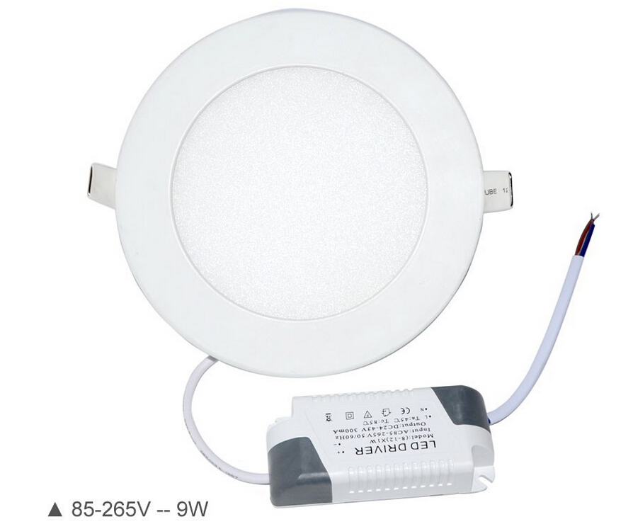 Dimmable LED Panel Light 3W 6W 9W 12W 15W 18W Recessed Ceiling LED Downlight Indoor Spot Light AC110V 220V Driver Included