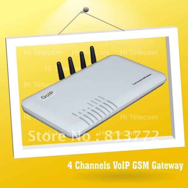 FREE Shipping!4 Ports 4 SIM Cards GoIP GSM VoIP Gateway - GOIP4