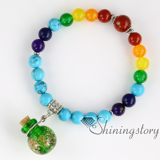 Beaded Charm Bracelets Essential Oil Bracelet Diffuser 7 Chakra Balancing Jewelry Tree Of Life Prayer Beads For In Strand From