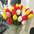 30pcs/lot Tulip Artificial Flower 2017 PU Artificial Flowers Real touch Bouquet For Home decoration Wedding Flowers