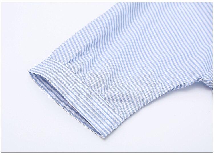 2017Fashion one shoulder Blue striped women shirt dress Sexy side split Elegant half sleeve waistband Casual beach dresses 13
