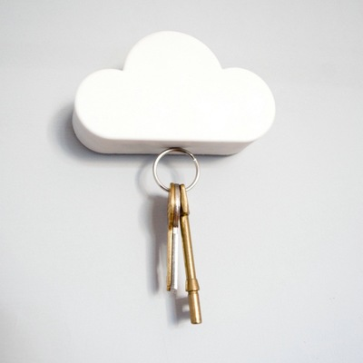 Simple Cartoon Cloud Design Magnetic Key Holder Strong Magnetism Wall Hook Home Decoration Cloud Hang Hooks For Keys