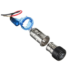 цена на 12V Motorcycle Car Boat Cigarette Lighter Power Socket Out Plug Power Sockets