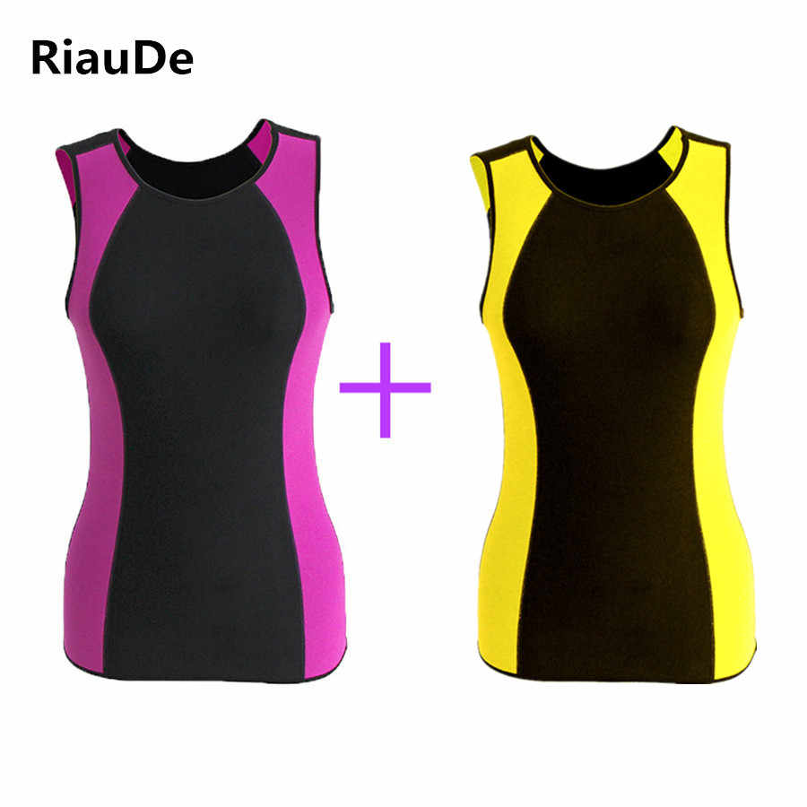 fe608af9a46a1 ... New Women Slim Vest Neoprene Body Shapers Vest Waist Trainer Slimming  T-shirt Sweat Corset ...