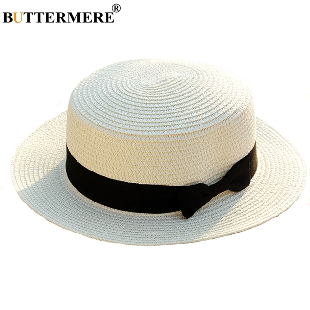 0d3331759 US $4.34 13% OFF|Aliexpress.com : Buy BUTTERMERE Panama Hat White Sun Hats  Women Straw Uv Protection Beach Hat Men Bowknot Travel Cheap Casual Male ...