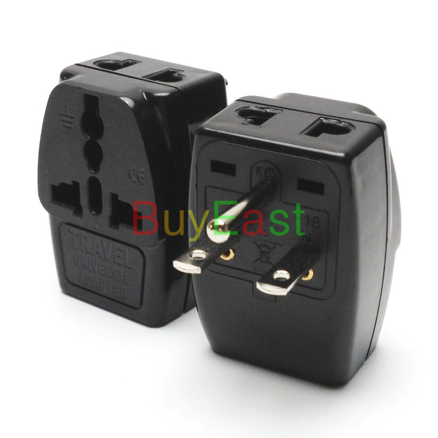 10 x North American NEMA 6-15P 3 Way Multi Outlet Electrical Plug Adapter AC100~250V 10A Black Color