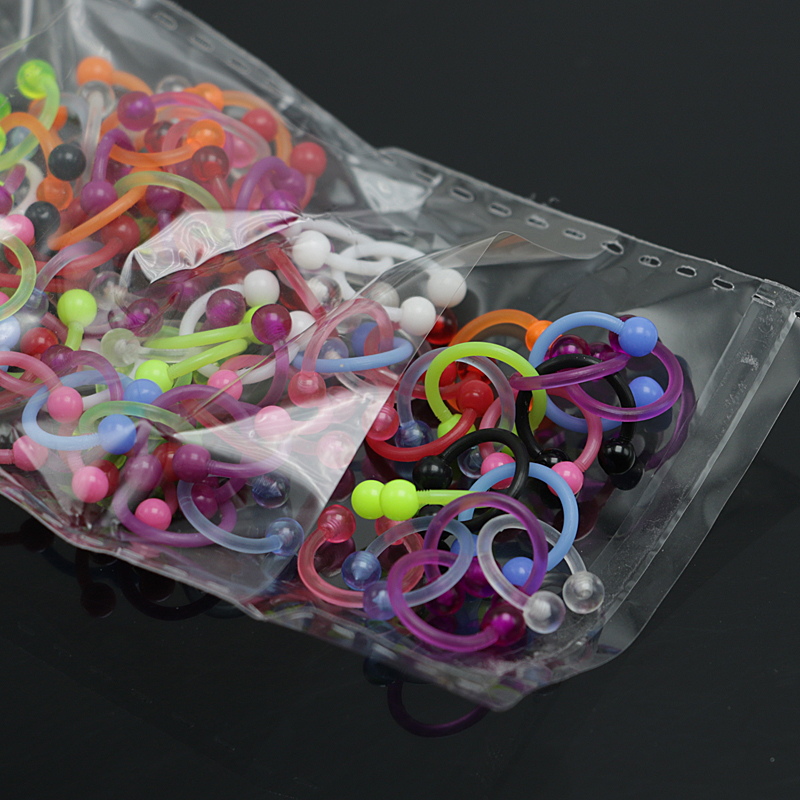 Jewelry Sets & More 200pcs Mix Color Medical Acrylic Fashion Fake Nose Ring Septum No Piercing Hoop Piercing Tragus Nose Studs Body Jewelry Jewelry & Accessories