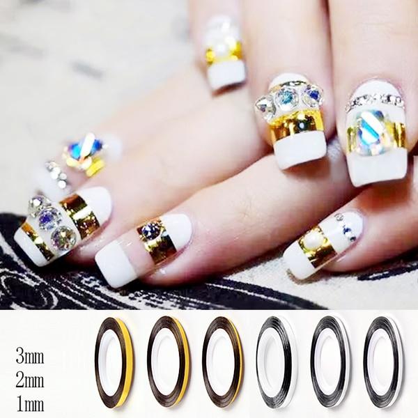 Gold Striping Tape Nail Art