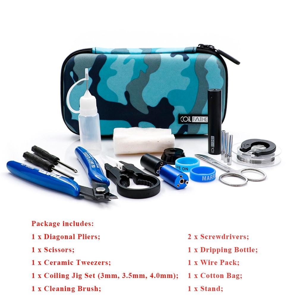 Vape Tool DIY Kit Accessory Coil Father X6s Master Tool Kit V3 12 Different Vape DIY Tool Kits For Mod Vape Atomizer