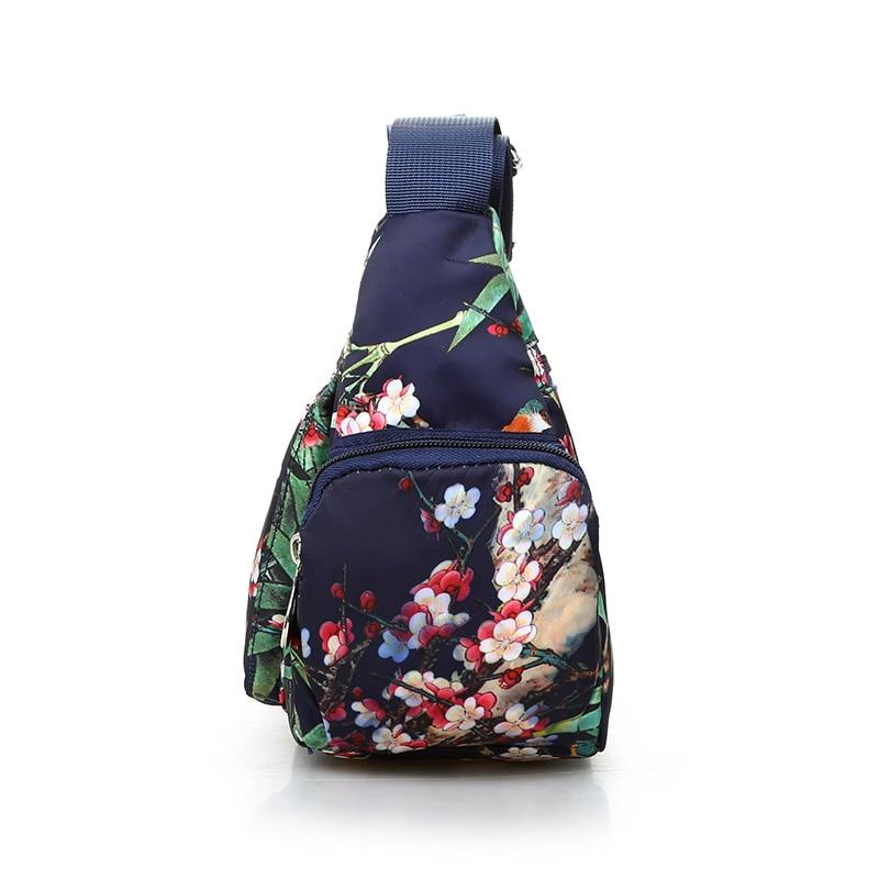 National Floral Pattern Women Crossbody Bag High Quality Waterproof Nylon Shoulder Bag Fashion Multi-pocket Women Messenger Bag 5