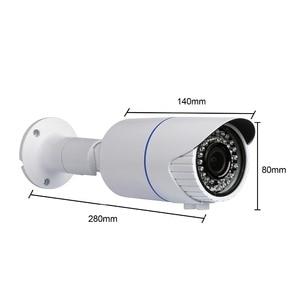 "Image 3 - Techage H.265 4.0MP HD אבטחת POE IP מצלמה חיצוני IR מקורה Onvif P2P Varifocal עדשת זום 2.8 12 מ""מ מצלמת מעקב טלוויזיה במעגל סגור"