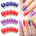 15 Sheets Lace Fingertip Nail Stickers Water Transfer Nail Art Decals Sticker Manicure Nail Beauty Design Tools