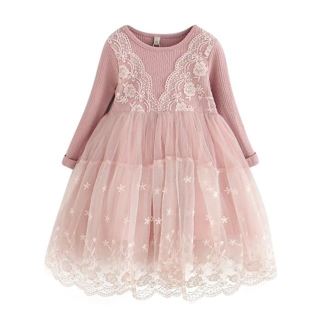 Kleid mit spitze madchen