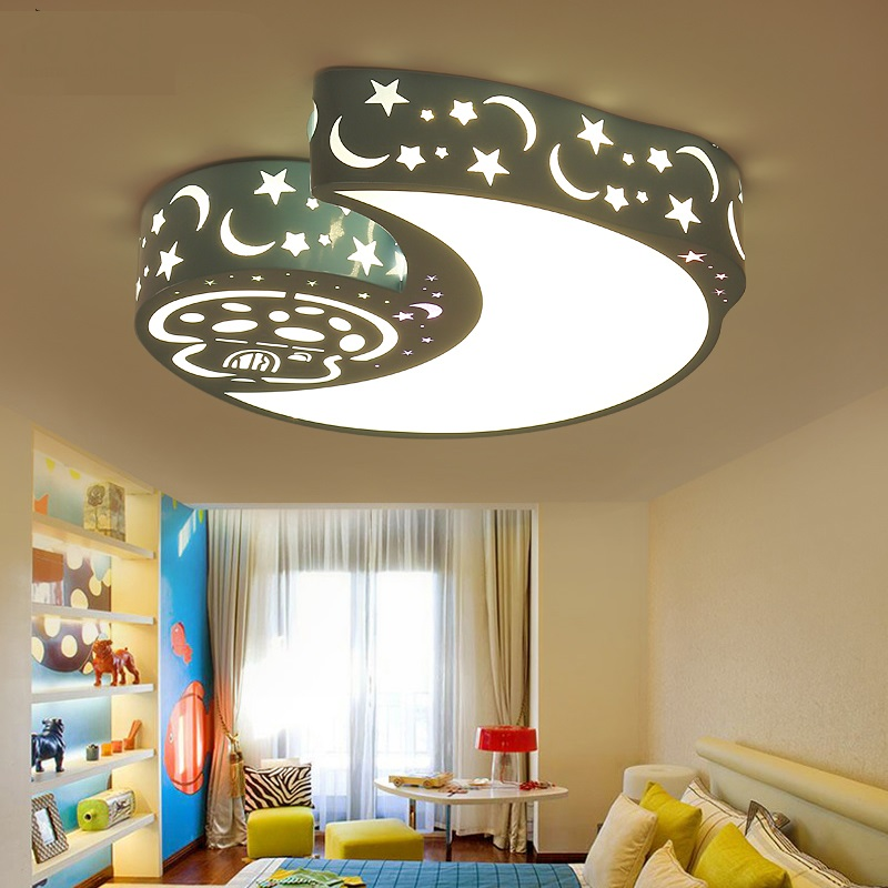 Ceiling Lights & Fans Ceiling Lights Symbol Of The Brand Moon And Star Modern Led Ceiling Lights Iron Acrylic White Led Ceiling Lamp For Bedroom Childrens Room Table Lamp Home Lighting