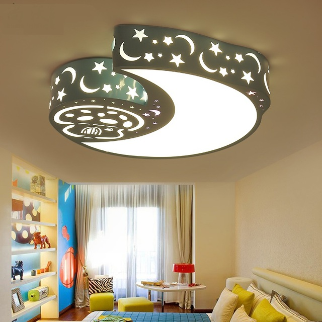 Childrens room led lamps ceiling lamp bedroom lights warm childrens room led lamps ceiling lamp bedroom lights warm romantic stars moon modern male and female mozeypictures Gallery