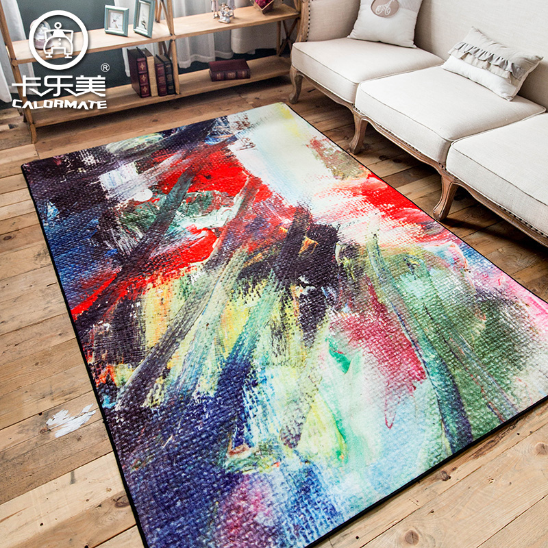 Abstract Oil Painting Color Art Sofa Bedroom Carpet Environmental  Protection Non Slip Living Room Rug In Carpet From Home U0026 Garden On  Aliexpress.com ...