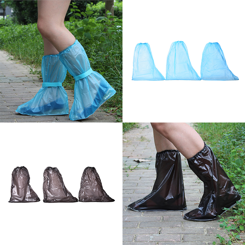 1 Pair Reusable Rain Shoes Cover Women/Men/ Children Thicken Waterproof Boots Cycle Rain Flat Slip-resistant Overshoes