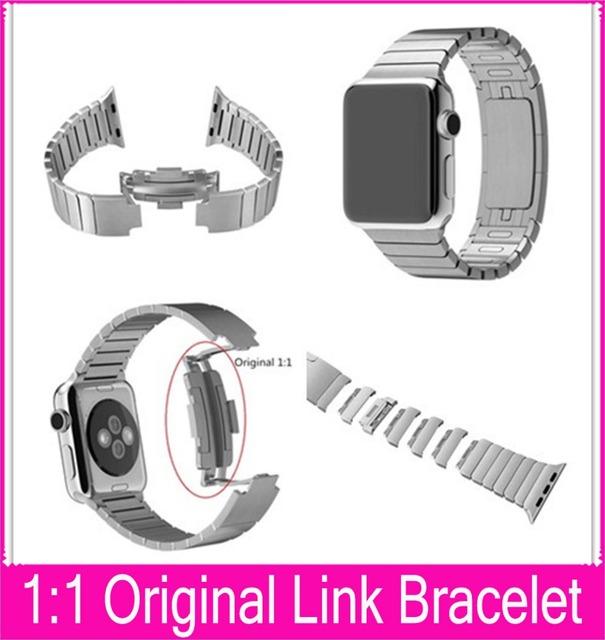 Cuarta generación Real 1:1 pulsera del acoplamiento para Apple venda de reloj 42 mm 38 mm por By acero inoxidable 316L con la misma calidad que la correa Original