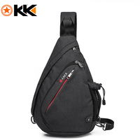 KAKA Casual Men Chest Bag Pack Anti Theft Crossbody Bags Multifunction Nylon Waterproof Chest Bags Shoulder