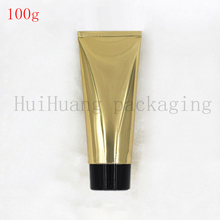 100g Black screw lid gold Soft Tubes Empty Cosmetic Cream Emulsion Lotion Packaging Containers Shampoo Shower Gel Packing Tube