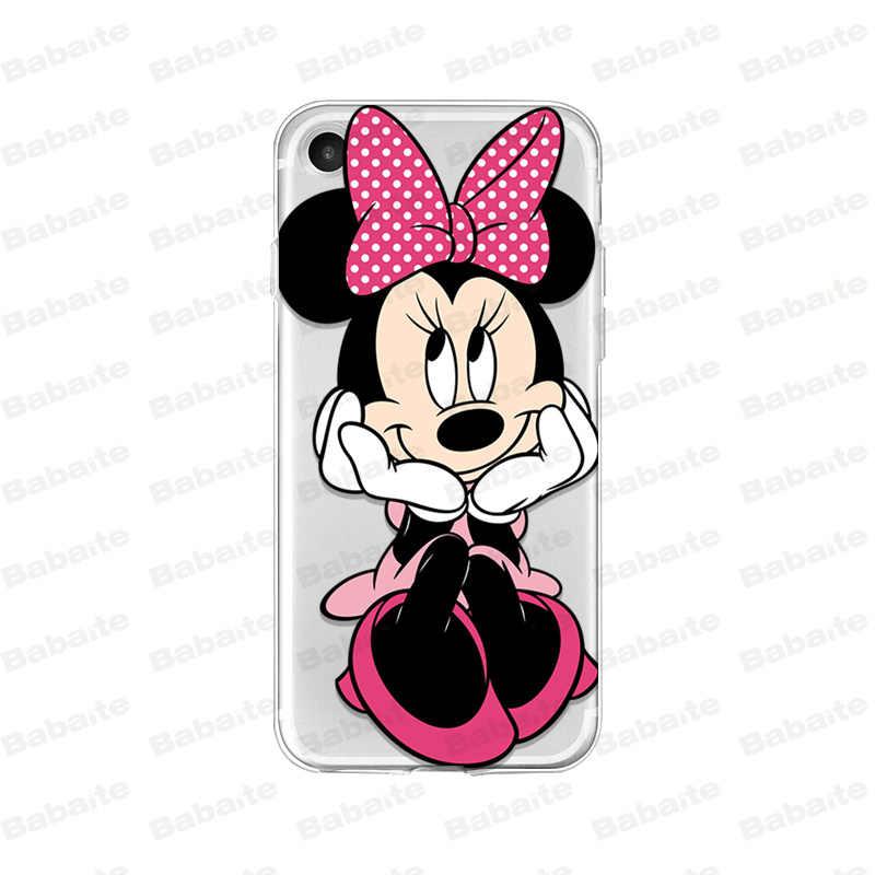 Babaite Bonito Minnie Mickey amo Coque Shell Caso de Telefone para o iPhone Da Apple 8 7 6 6S Plus X XS MAX 5 5S SE XR Tampa