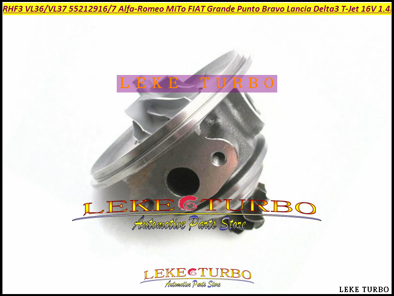 Turbocharger Cartridge Core RHF3 VL36 VL37 For Lancia Delta MiTo Punto Bravo T-Jet 16V 1368ccm 198A4000 88kw 120HP Gas 55212916