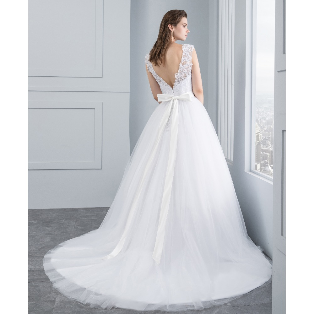 Miaoduo Wedding Dress New Lace Wedding Dresses Satin Backless ...