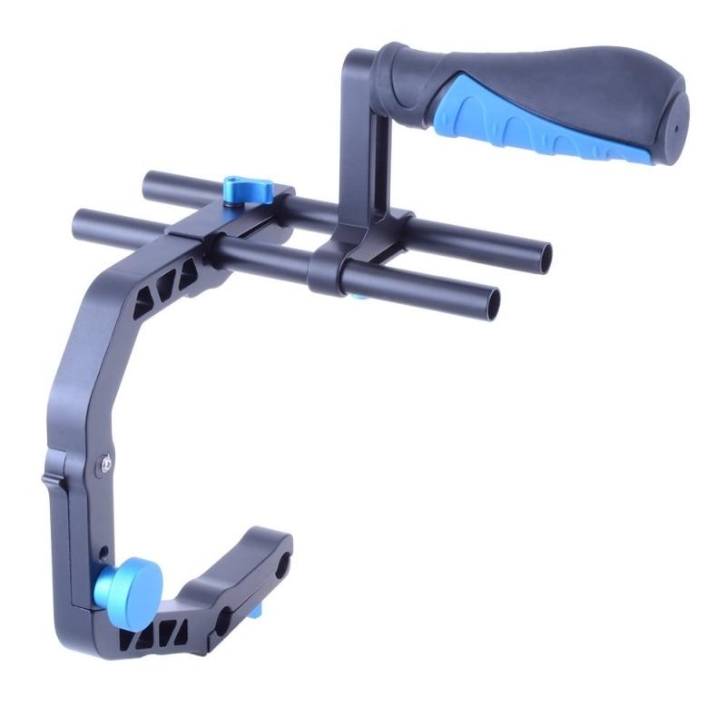YELANGU Hanheld Action Stabilizer Grip C Shaped Bracket Holder for Canon Nikon Sony Gopro Camera Camcorder DV DSLR Stabilizer цена