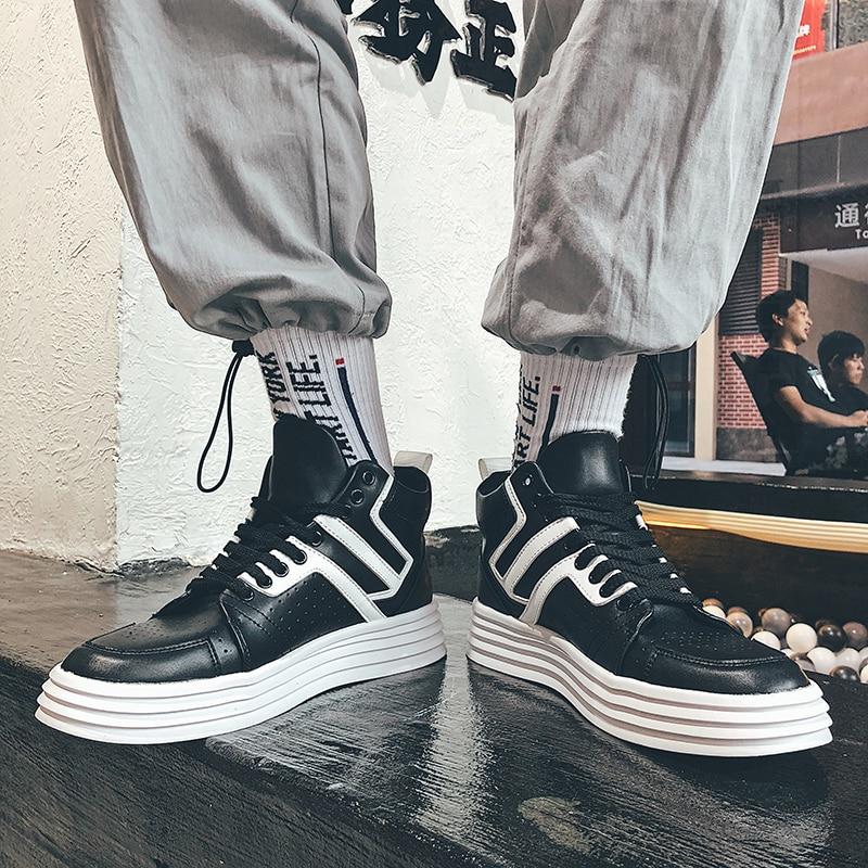 Livre Slip Apartamentos Sapatos Masculino Homens Skate Confortável Preto Ao Para Moda on Sapatilha Sapato Branco Casuais Black Ankle De Dos white O Ar Da Homem Boots Executar qqpPT0