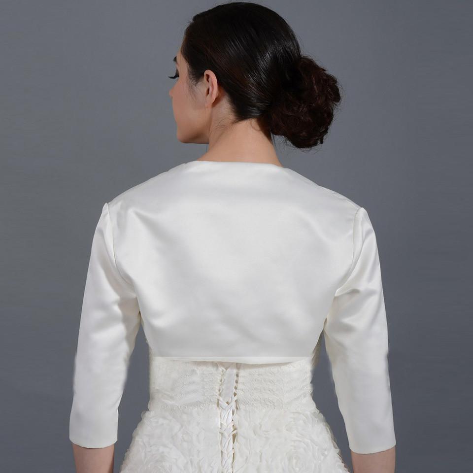 2016-New-White-Ivory-Satin-Fashion-Half-Sleeve-Wedding-Jacket-Custom-Made-Bolero-Wedding-Accessories-Cape (1)