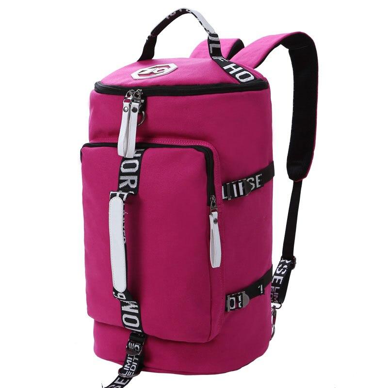 2018 Multifunctional Canvas Portable Sports Gym Backpack Shoulder Bag  Men And Women Yoga Package Cylinder Package Gym Bag