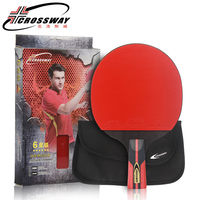 Long handle table tennis racket rubber Log 6 Star rackets table tennis Sticky Pimples in Rubber Super Powerful Ping Pong Racket