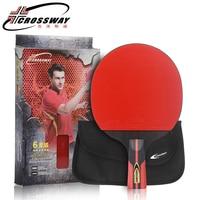 Long handle table tennis racket rubber Log 6 Star rackets table tennis Sticky Pimples in Rubber Super Powerful Ping Pong Racket