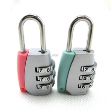 Free shipping outdoor travel goods small and cute luggage lock small padlock zinc alloy password lock wardrobe lock drawer lock