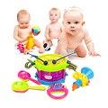Shows de bebê Crianças Toy Gift Set 5 pcs Tambor Trompete Cabasa Sineta Brinquedo Kit de Instrumentos Musicais Da Banda
