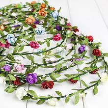 Hot Bride Headband Flower Boho Women Lady Girl Floral Festival Wedding Garland Forehead Hair Head Band  1NN9 7ELG