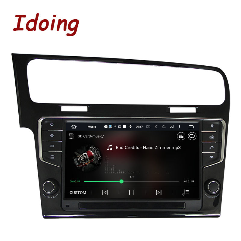 Idoing 1 Din Android 7.1 Steering-Wheel Car DVD Multimedia Video Player For VW golf 7 2013 GPS Navigation 4Core 2G+16G 3G Wifi jdaston 1 din 7 inch android 6 0 car dvd player for peugeot 207 multimedia video wifi gps navigation radio stereo steering wheel