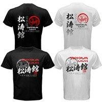 Japón Shotokan Karate Do Kanji Japonés MMA de La Mezcla Forma de duración de la camiseta Hombres de Las Mujeres de Moda de Verano Impreso Tee camiseta camiseta