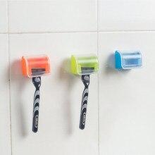 Пылезащитный пластиковый держатель для бритвы, коробка на присоске для хранения бритвы, полка для ванной комнаты, настенный набор для бритвы