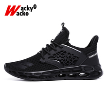 цена на Wacky Wacko 2019 Casual Men Shoes Big Size 45 46 Summer Fashion Trending Breathable Sport Shoes Air Mesh Sneakers Male Shoes