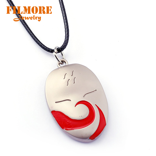 Naruto Choker Necklace Shadow Kakashi Mask Pendant