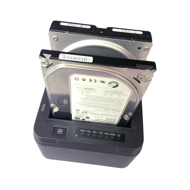 USB 3.0 para SATA Dual Bay Docking Station Disco Rígido Externo para 2.5 ou 3.5 polegadas HDD SSD Padrão do REINO UNIDO