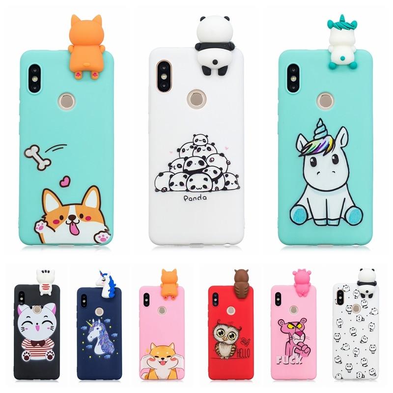 online retailer 28bda 326f4 US $2.89 33% OFF etui Xiaomi Redmi Note 5 Case Cover on Redmi Note 5 Pro 3D  Cute Panda Unicorn Silicone Case for Funda Xiaomi Redmi Note 5 Case-in ...