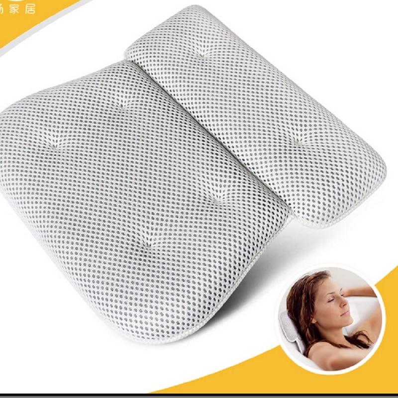 2017 New Bath Tub Bath Pillow Bathroom Neck Pillow sucker waterproof bathroom by special non-slip bath pillows soft backrest
